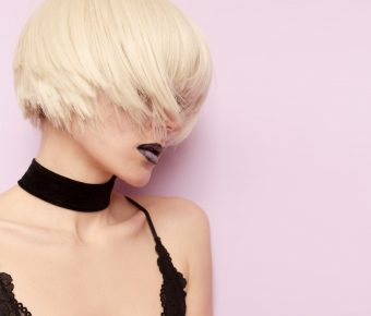 Sensual Blonde Stylish Haircut Fashion Choker Necklace